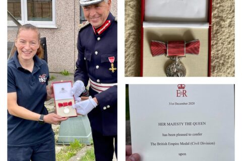 26 August 2021 – Sharon Gill receives her British Empire Medal