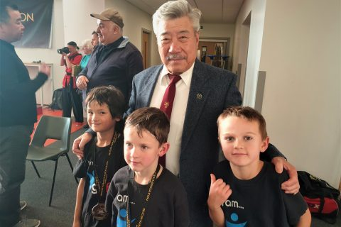 27 October 2019: Young fighters meet Grandmaster Yau